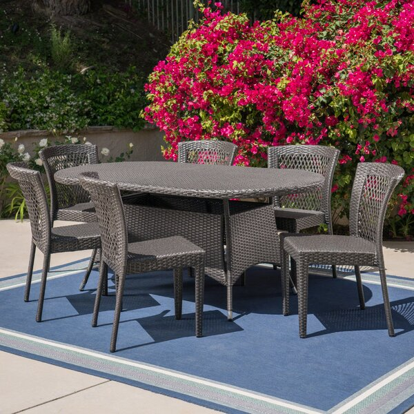 Guillory Outdoor 7 Piece Dining Set by Charlton Home