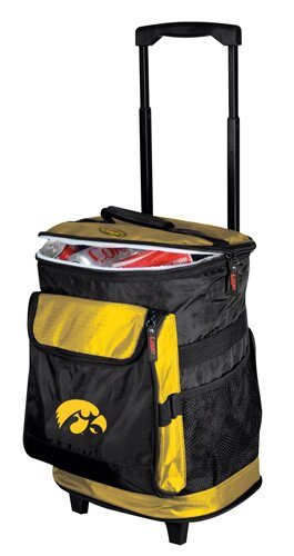 Collegiate Rolling Cooler - Iowa by Logo Brands