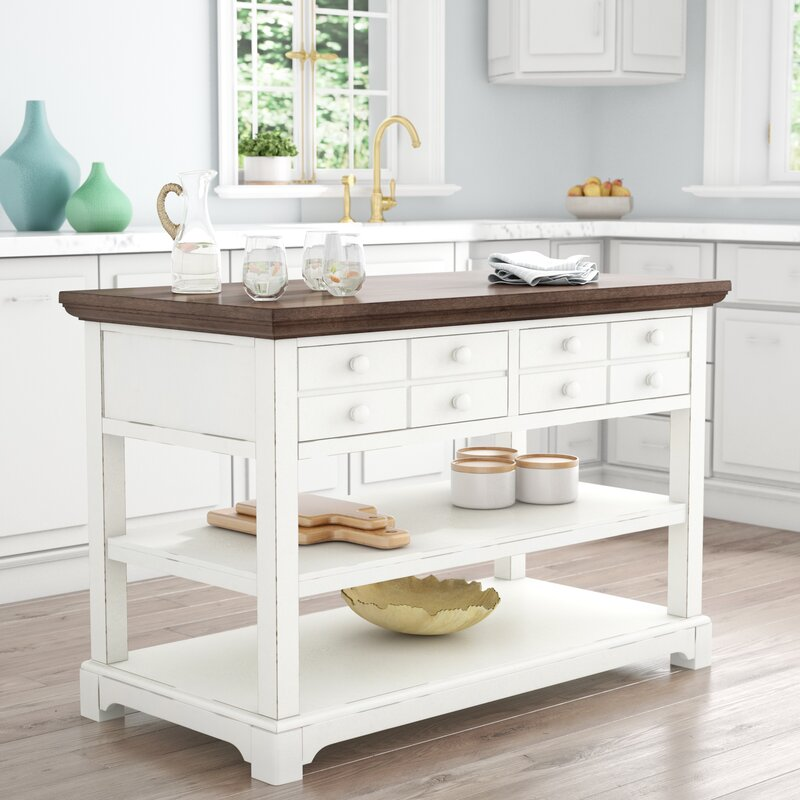 Table Cuisine Ilot: Rosecliff Heights Galliano Kitchen Island & Reviews