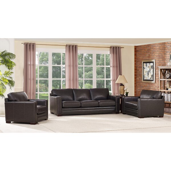 Neil Leather 4 Piece Living Room Set by Trent Austin Design