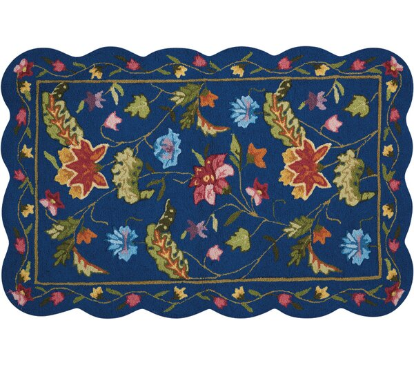 Cherie Navy/Green Area Rug by August Grove