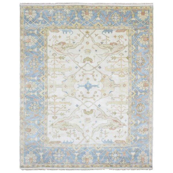 One-of-a-Kind Finadeni Oriental Hand Woven Wool Beige/Blue Area Rug by Isabelline