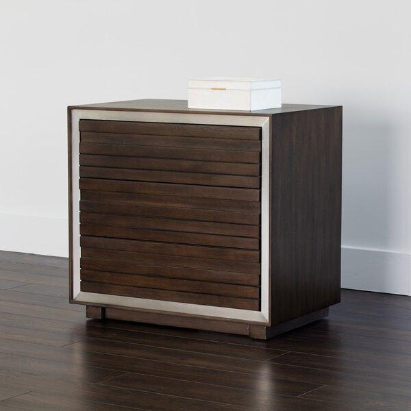 Solterra 3 Drawer Nightstand by Sunpan Modern