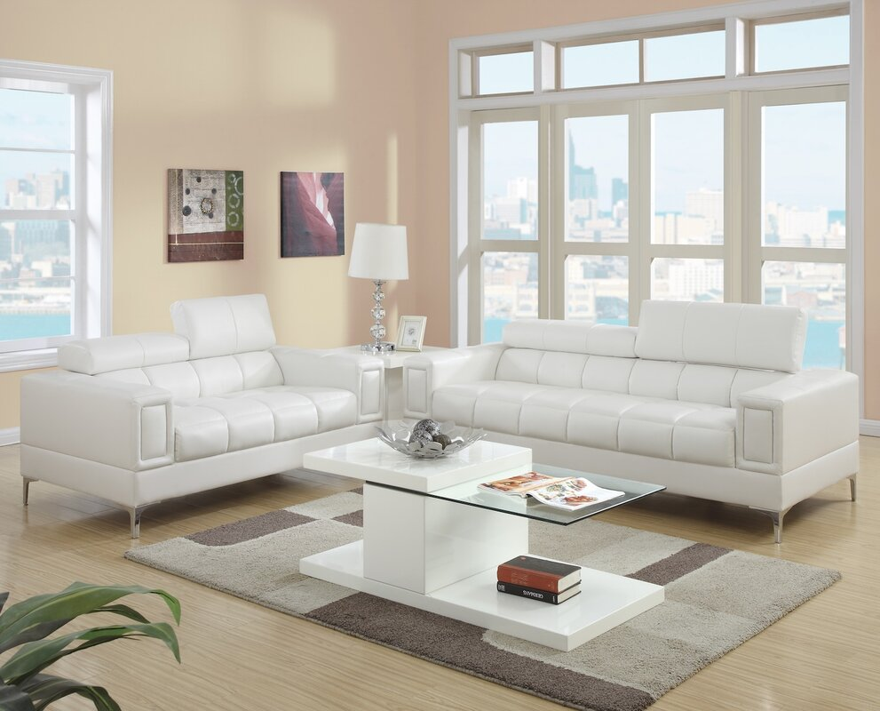 2 piece living room set reviews allmodern for Living room sets under 800