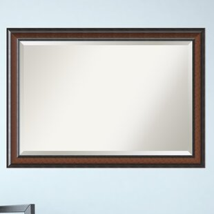 Darby Home Co Walnut Wood Accent Wall Mirror
