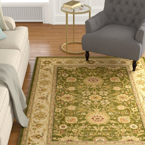 Ottis Sage/Ivory Persian Area Rug by Charlton Home