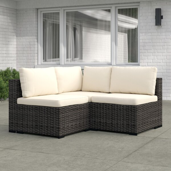 Holliston 3 Piece Rattan Sectional Seating Group With Cushions By Zipcode Design by Zipcode Design 2020 Sale