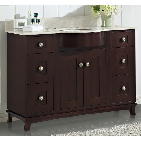 Kester Transitional 48 Single Bathroom Vanity Set with Stone Top by Darby Home Co