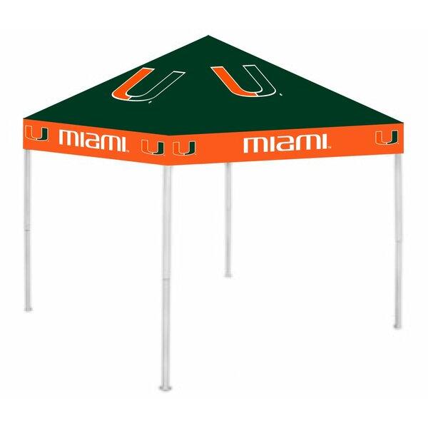 NCAA 9 Ft. W x 9 Ft. D Steel Pop-Up Canopy by Rivalry