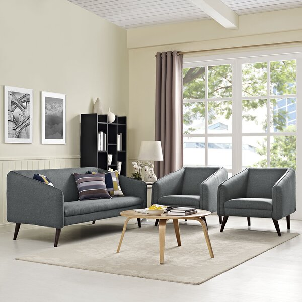 Slide 3 Piece Living Room Set by Modway