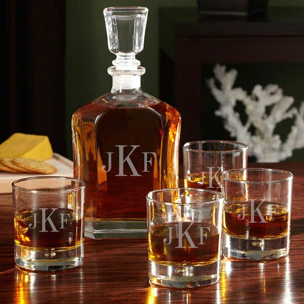Drewry Engraved Monogram 5 Piece Beverage Serving Set by Darby Home Co