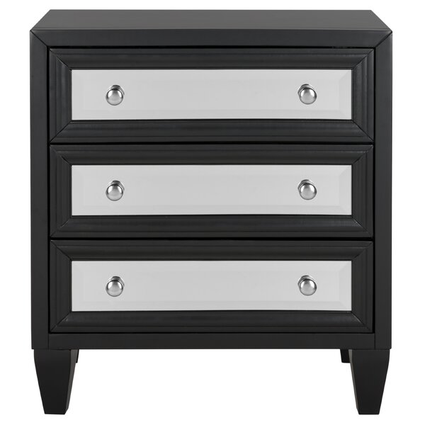 Leandro 3 Drawer Accent Chest by Everly Quinn