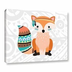 Aida Tribal Fox I Canvas Art by Viv + Rae