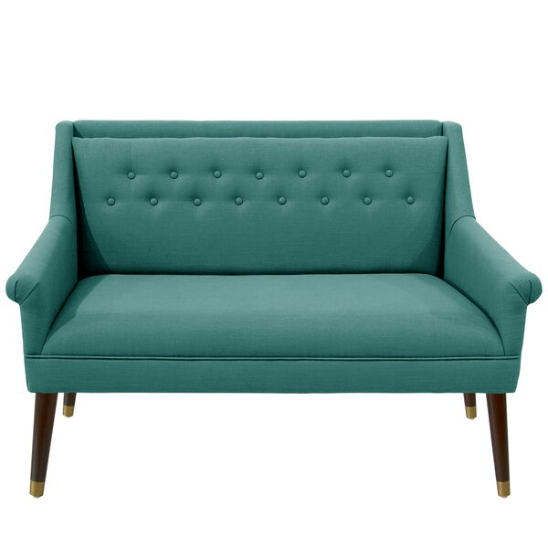 Cilegon Modern Ferrules Settee By George Oliver