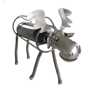 Moose 1 Bottle Tabletop Wine Rack by H & K SCULPTURES