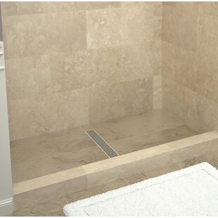 48 x 34 Single Threshold Shower Base with Drain Grate ByTile Redi