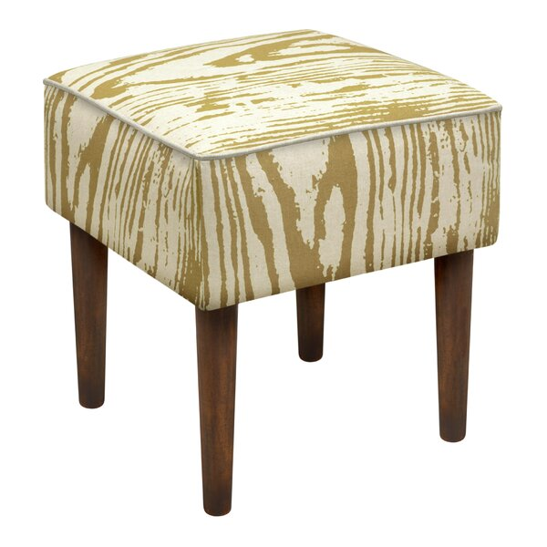 Faux Bois Upholstered Vanity Stool by 123 Creations