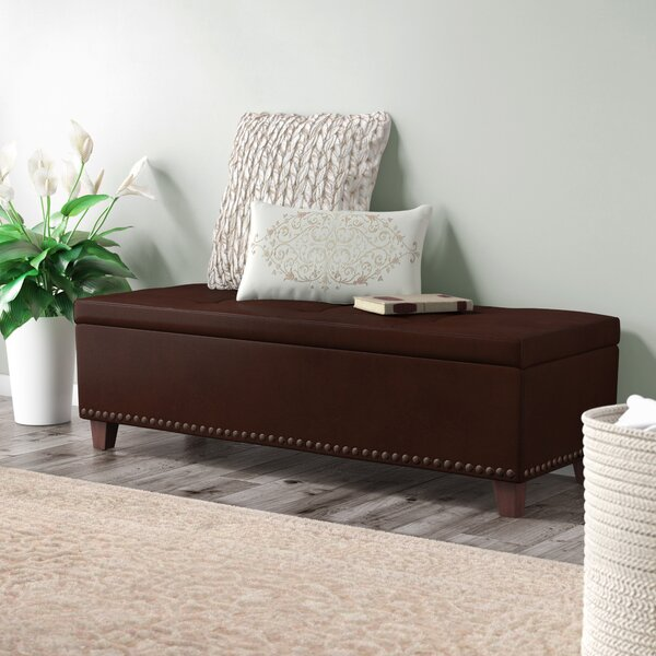 Lemire Leather Storage Bench by Charlton Home