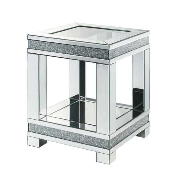 Maroneia Faux Diamonds End Table By Rosdorf Park