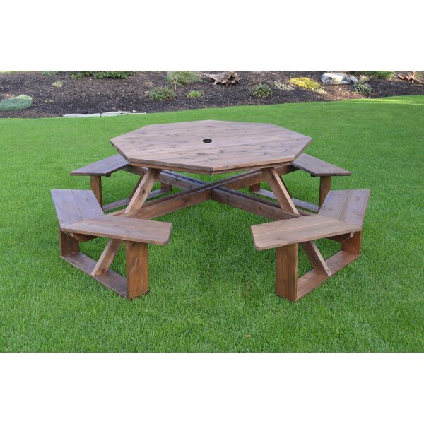 Sirna Wooden Picnic Table by August Grove