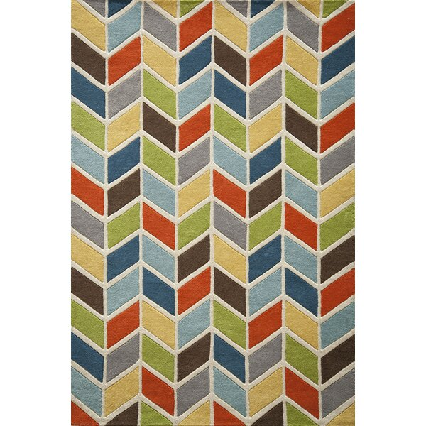 Eli Hand-Tufted Blue/Green/Yellow Area Rug by Viv + Rae