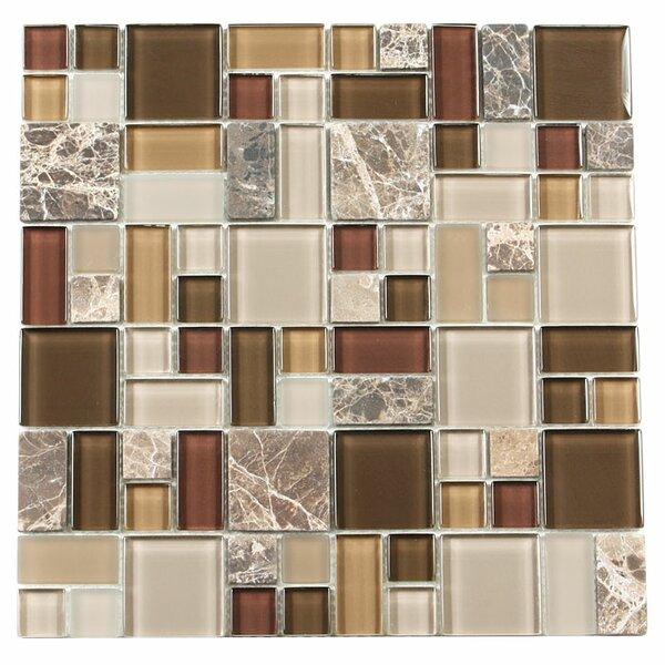 Paragon 12 x 12 Glass Mosaic Tile in Sable Multi by Kellani