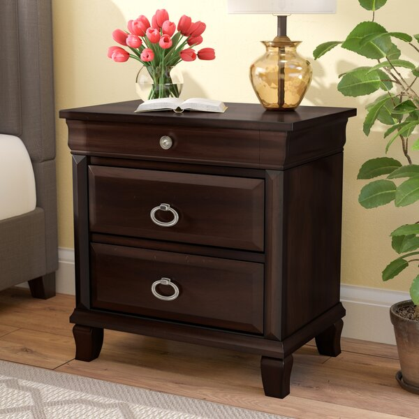 Clarkstown 3 Drawer Nightstand by Three Posts