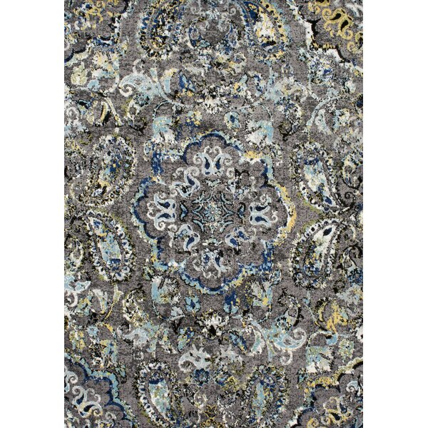 Stoneham Gray/Silver Area Rug by Andover Mills