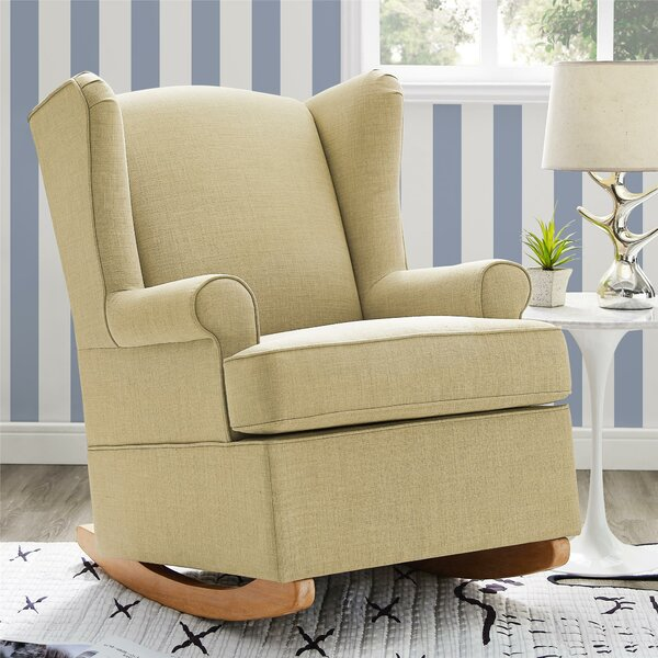 Bender Wingback Rocking Chair by Harriet Bee