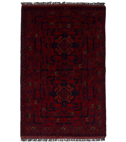 One-of-a-Kind Alaraph Hand-Knotted Wool Red Area Rug by Isabelline
