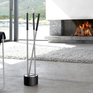 Canetto 2 Piece Fireplace Tool Set By Blomus