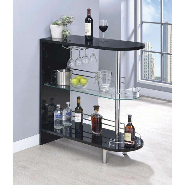 Milwaukee Bar With Wine Storage By Wrought Studio.