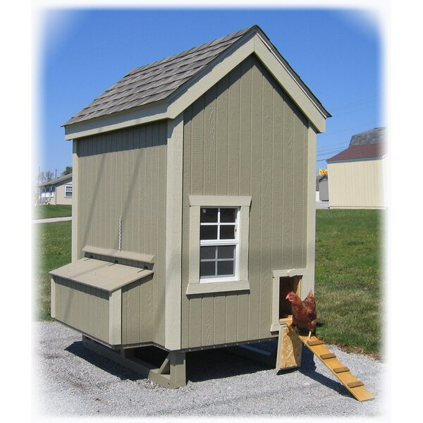 Digger Colonial Gable Chicken House with Ramp and