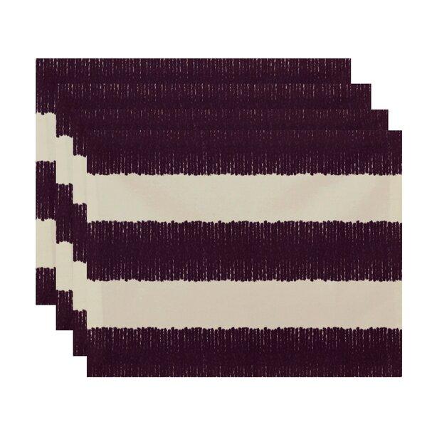 Hurlock Twisted Stripe Stripe Print Placemat by Gracie Oaks