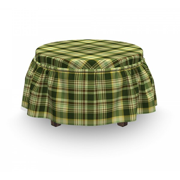 Scottish Quilt 2 Piece Box Cushion Ottoman Slipcover Set By East Urban Home