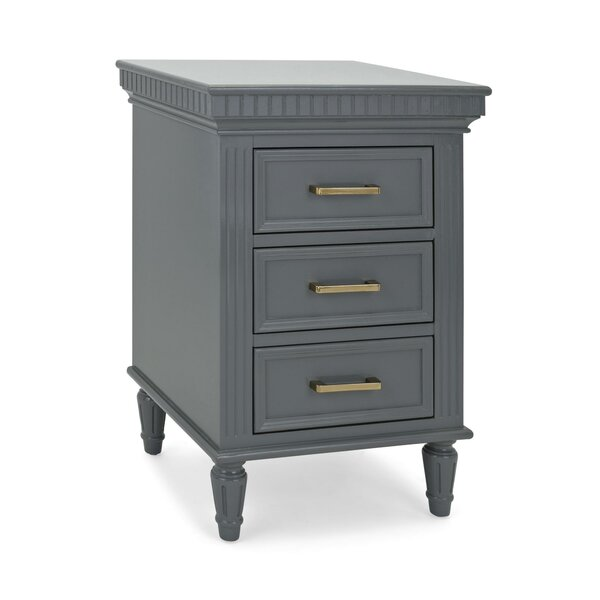 Lujan Wooden 3 Drawer Chest by Alcott Hill