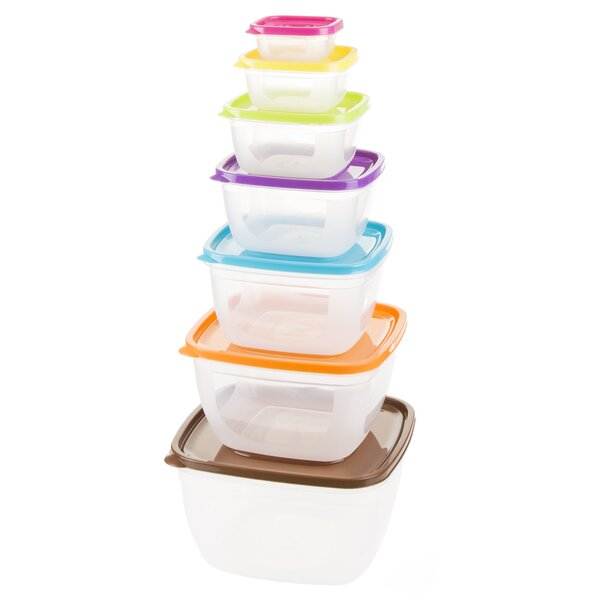 Square 7 Container Food Storage Set by Classic Cuisine