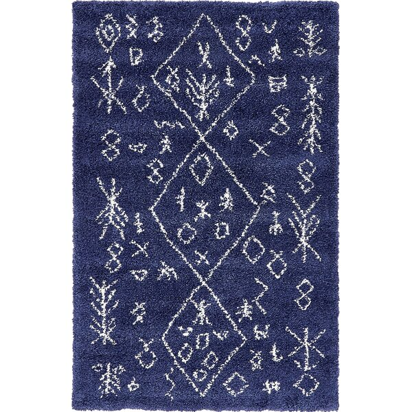 France Navy Blue Area Rug by Mistana