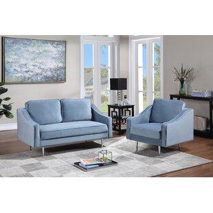 North Widcombe 3 Piece Velvet Living Room Set by Mercer41