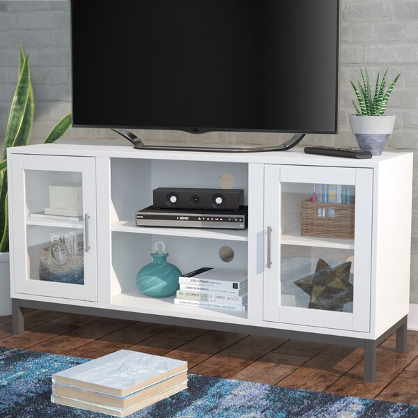Fergerson Wood 52 TV Stand with Optional Fireplace