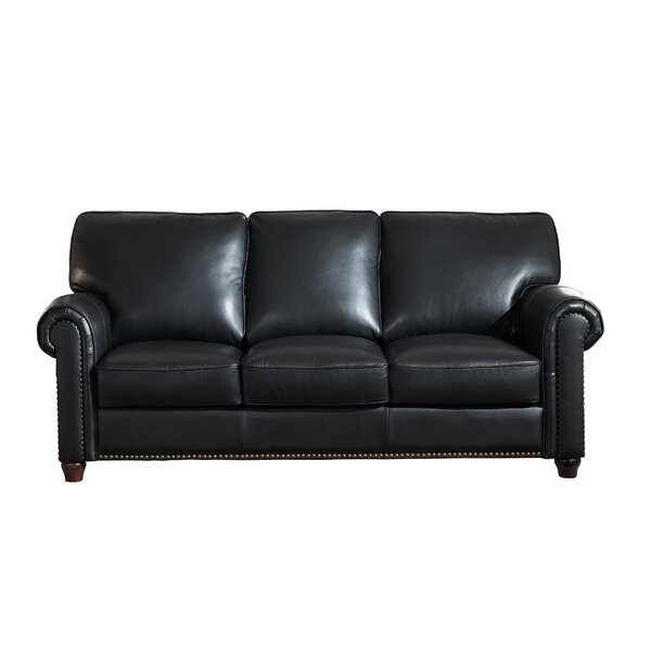 Tawanda Craft Leather Sofa by Three Posts