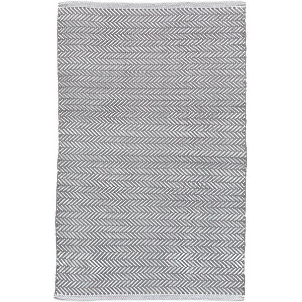 Herringbone Gray Indoor / Outdoor Area Rug By Dash And Albert Rugs