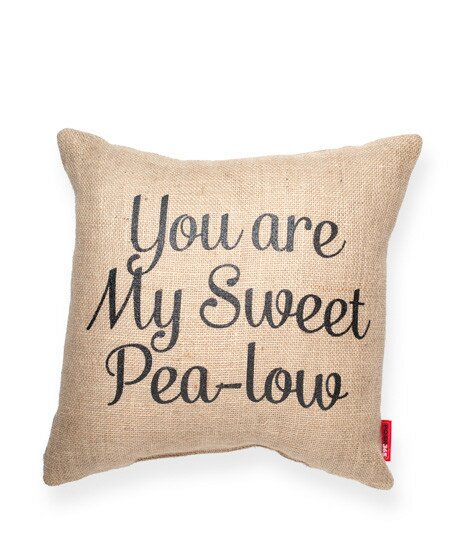 Expressive Pea-Low Jute Burlap Throw Pillow by Posh365