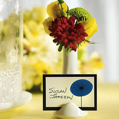 Small Favour Vase and Place Card Holder (Set of 12) by Weddingstar
