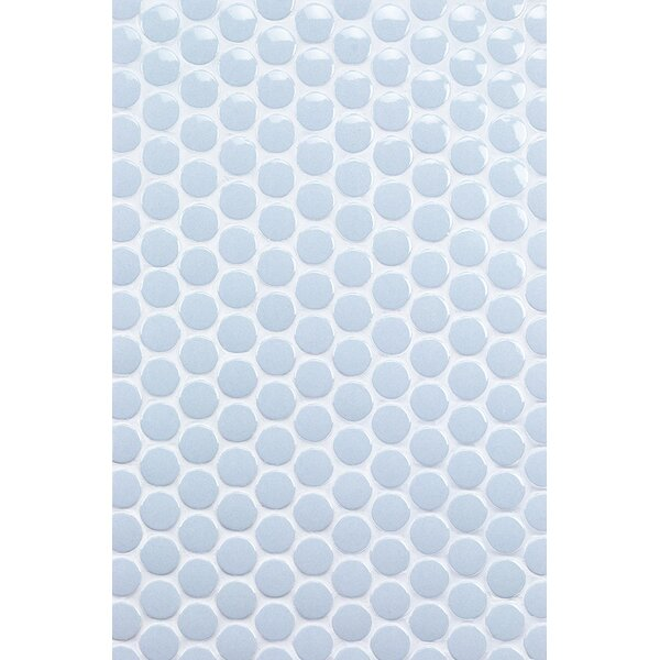 Bliss 1 x 1 Ceramic Mosaic Tile in Blue by Splashback Tile