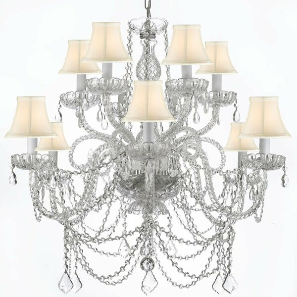 Atchley 9-Light Shaded Tiered Chandelier by Astoria Grand Astoria Grand