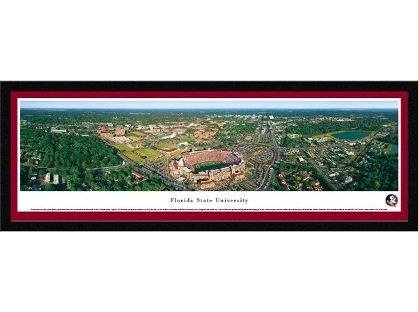 NCAA Florida State University by James Blakeway Framed Photographic Print by Blakeway Worldwide Panoramas, Inc