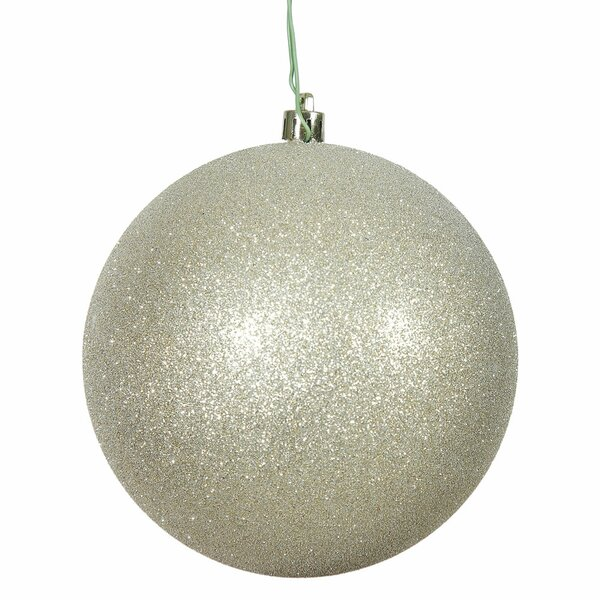 Gliter Christmas Ball Ornament with Pre Drilled Cap by The Holiday Aisle