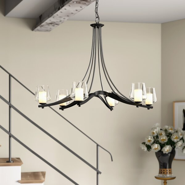 Ribbon 6 - Light Shaded Classic / Traditional Chandelier By Hubbardton Forge