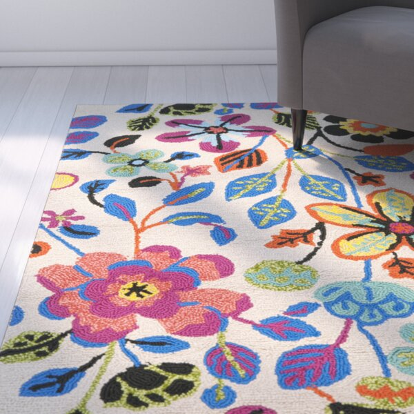 Hayes Flowers Outdoor Area Rug by Ebern Designs